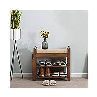 靴ラックオーガナイザストレージ、 靴ラック、靴キャビネット、経済家庭用多機能ストレージスツール (サイズ さいず : 62cm)