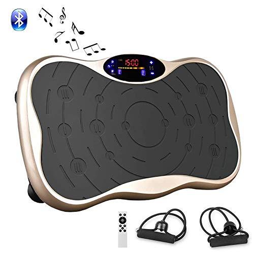 振動マシン フィットネスマシン シェイカー式 ダイエット マシン 全身振動 Bluetooth 音楽機能 脂肪燃焼 全身振動 PSE認証済 (ゴールド-1)