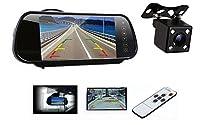 MIFO ルームミラーバックカメラセット リモコン付き 7インチルームミラー+小型バックカメラのお得な3点セット 2チャンネル搭載 12V専用 700HA0119N