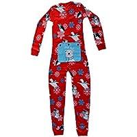 Winter Fun Penguins Union Suit Boys & Girls Onesie Pajamas Stay Cool Polar Bear Rear Flap, Kids 4 - 12