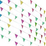 Funpa ガーランド 三角型 幼稚園 会場 祝典 結婚式 誕生日 学校 お祝い パーティー デコレーション 掛け飾り 紙 262.4m