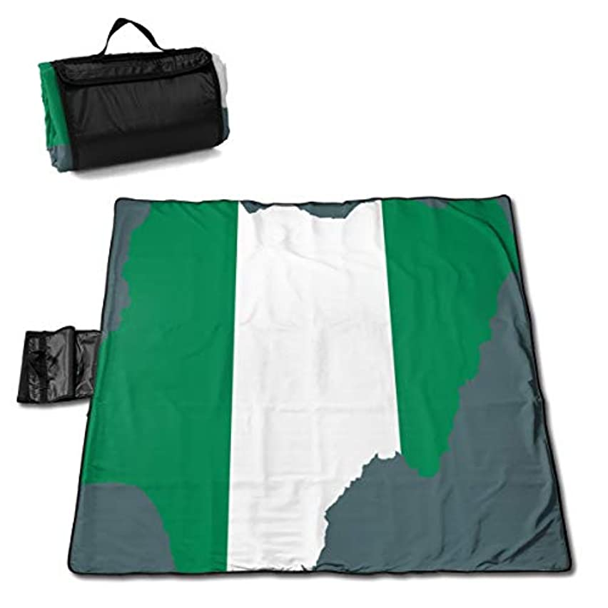 落ち着いた見捨てる彫る2018ナイジェリアの国旗と地図 ピクニックマット レジャーシート ファミリー レジャーマット 防水 防潮 マット 折り畳み 持ち運び便利 四季適用び おしゃれ花火大会 運動会 遠足 キャンプ 145×150cm
