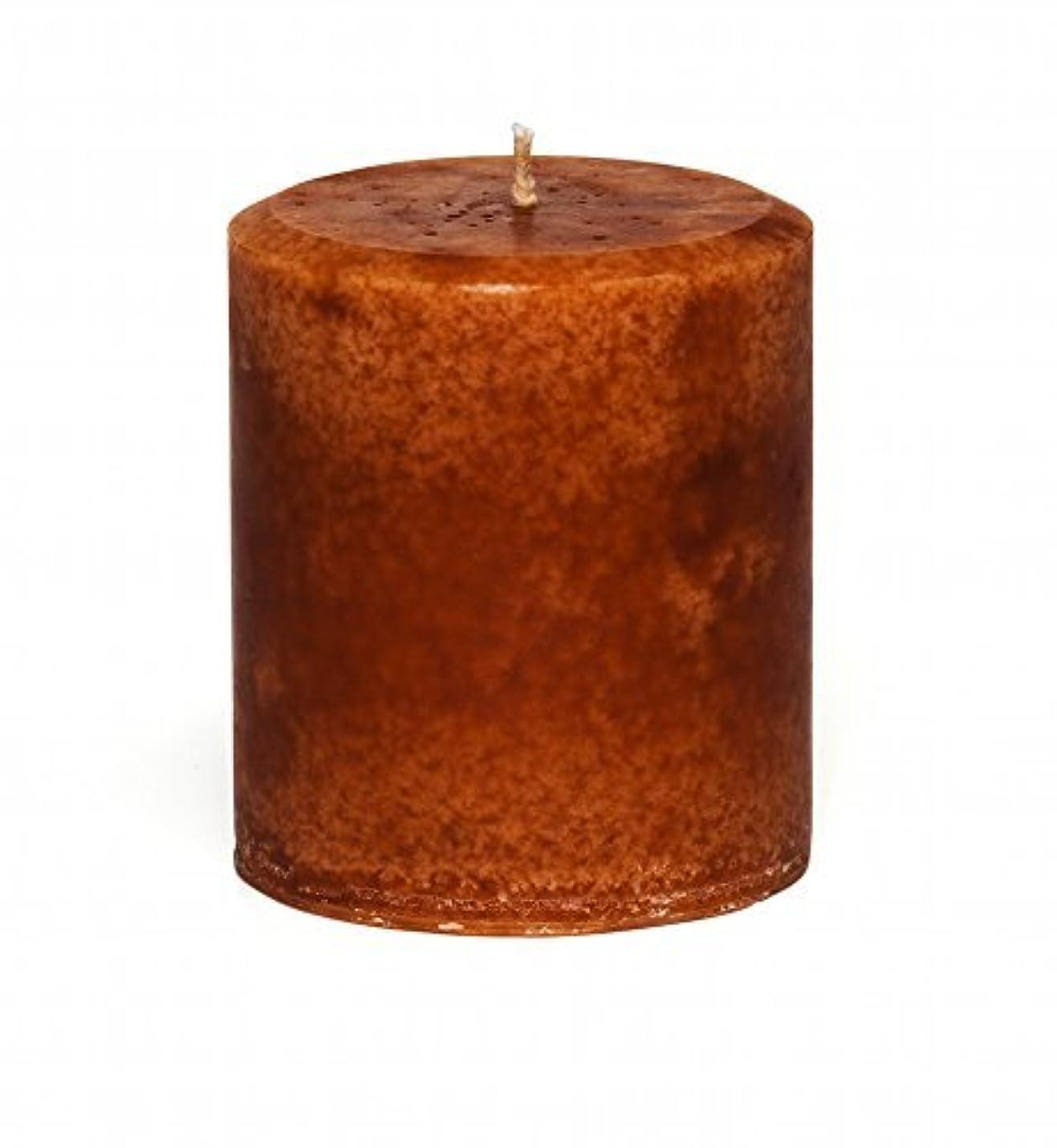 簡単なポジションモザイクJensanシナモンオレンジ香りつき装飾Pillar Candle、ハンドメイド – 装飾 – 強力な香り