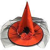 BESTOYARD ハロウィン魔女帽子 コスプレ仮装 装飾 衣装 コスチューム ハロウィン 仮面舞踏会 帽子(赤)