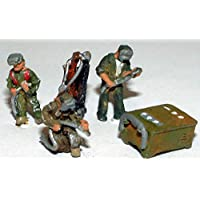 Langleyモデル溶接シーンNスケール金属モデルPeople Figures Painted a91p