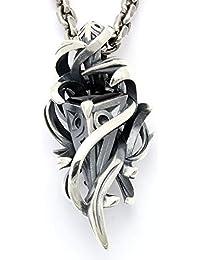[エムズコレクション] Ms collection テンタクルス ラーヴァ ペンダント ネックレス シルバー ブラック ジルコニア メンズ XP-021BLCZ