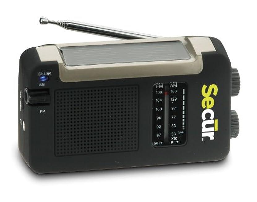 近似複製ゆでるSecur 手動充電 ソーラーパワーAM/FMラジオ 太陽光充電 ハンドル回転式ラクラク充電 バッテリー不要 軽量コンパクトサイズ ノンスリップラバー仕上げ キャンプやハイキングなどにピッタリのアイテム