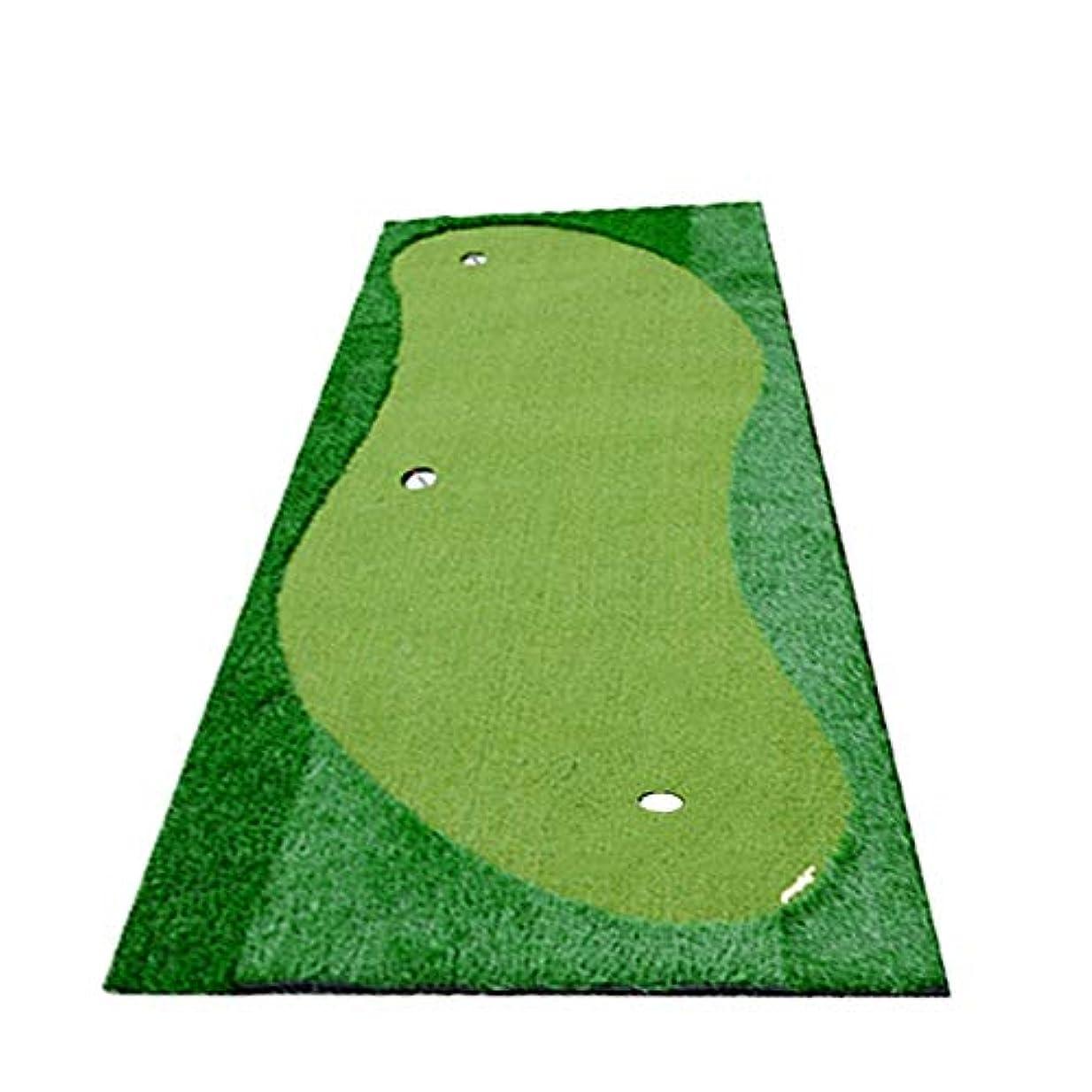 タック放棄医薬品ゴルフショップ スーパーベント パターマット 屋内/屋外のゴルフシミュレーションゴム下の緑の屋内人工ゴルフを入れて練習グリーンを置きます (色 : 緑, Size : 1.5*3m)