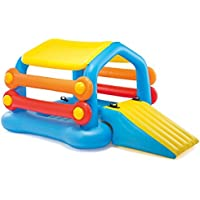 Intex Cabin Island with Slide & Removable Sides Inflatable Play Center 110 X 68 X 48 for Ages 9+ [並行輸入品]