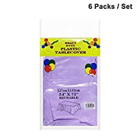 pure purple pvc plastic party event dinning disposable indoor