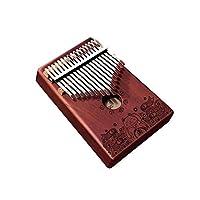カリンバ。17トーンのカリンバ親指ピアノ、初心者用エントリプロの楽器を演奏(スタイル1、プレゼント、ギフトのフルセット) (Edition : Style 5)