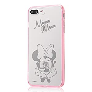 レイ・アウト iPhone7 Plus ケース ディズニー ハイブリッドケース(TPU +ポリカーボネイト) ストラップホール/ミニーマウス RT-DP13U/MN