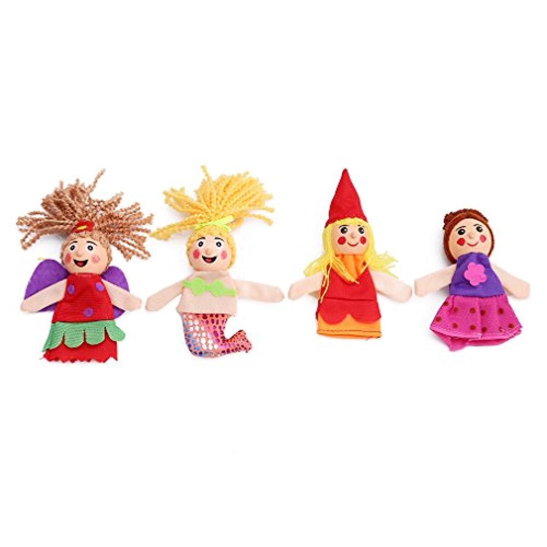 meolin異なるCartoon Fairy Tale赤ちゃん教育Finger PuppetsソフトベルベットDolls小道具おもちゃ 3.54-4.33*1.57-2.36in 11