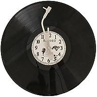 【エルアンドシー】レコード風クロック 時計 LP 掛け時計 アンティーク ウォールクロック アメリカン雑貨 クロック 男前 かっこいい ビンテージ 西海岸 インテリア 雑貨