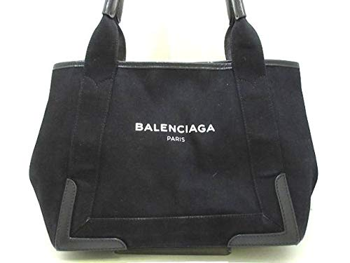 (バレンシアガ) BALENCIAGA トートバッグ ネイビーカバS 黒 339933 【中古】