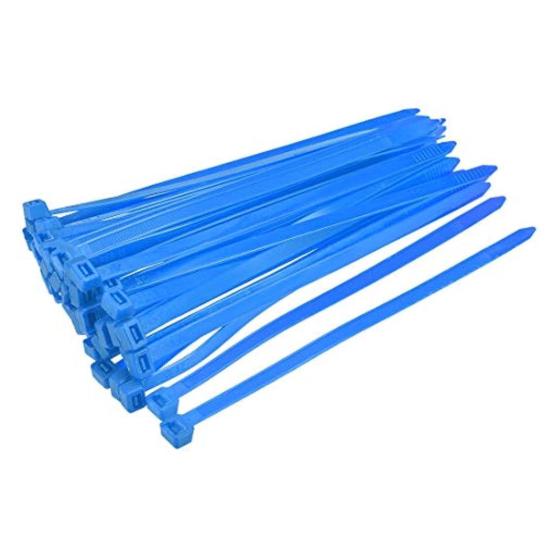 骨折ダンプゴミuxcell ケーブルジップタイ 450 mmx4.2 mmセルフロック ナイロンタイラップ 60個 ブルー 250mmx7.6mm