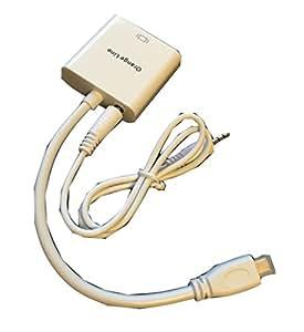 マイクロHDMI→VGA(D-sub)変換器 音声出力端子/ケーブル付 スマホ・タブレットPC用 【180日保証付き】【Orange Line】