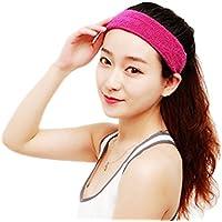 Bullidea Basketball Tennis Sports Headband Cotton Sweatband Elastic Head Sweat Band Brace Multi-colors 1pc