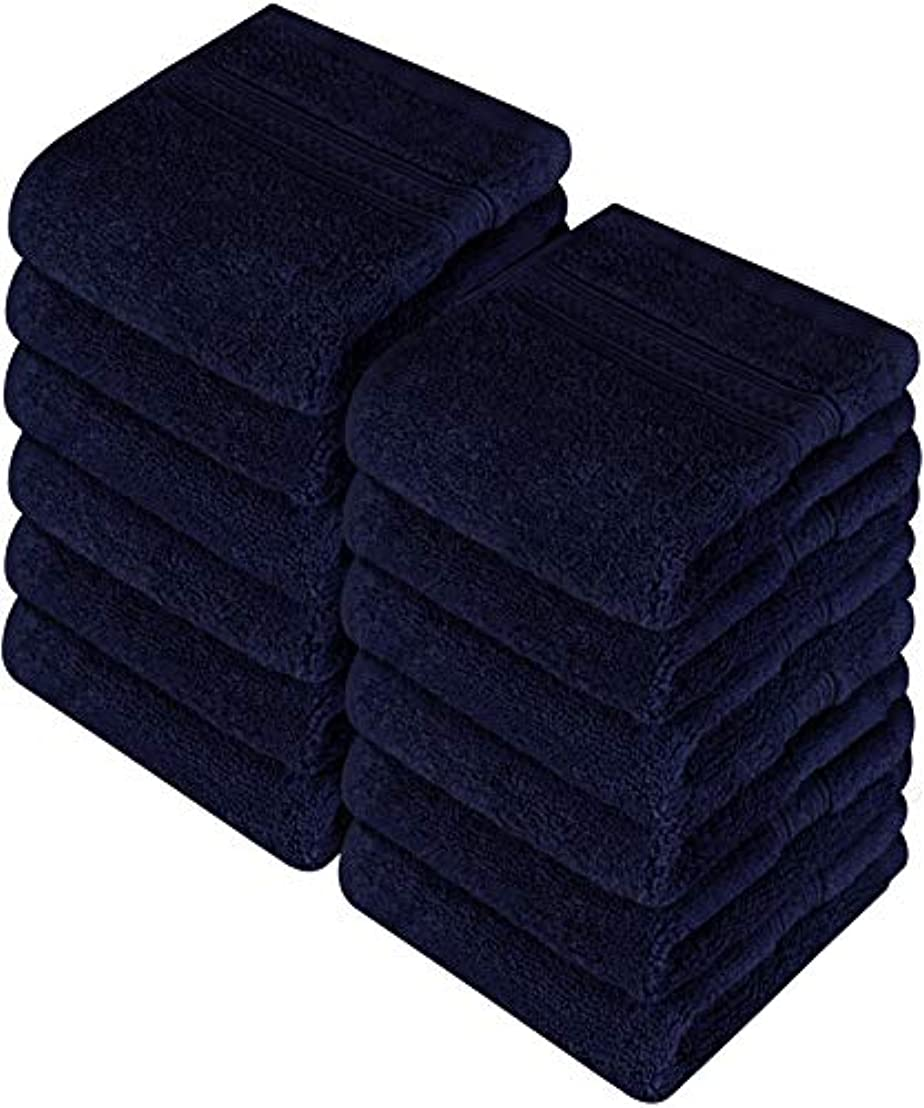 一般的に有名な独裁者Utopia Towels 高品質タオル700G/㎡(Gsm) 12枚セット ネイビー