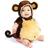 【Abz Cosplay】 猿 乳児 幼児 赤ちゃん ハロウィン コスチューム いたずら 好き 着ぐるみ おくるみ パジャマ サイズ 18 Months / 2T