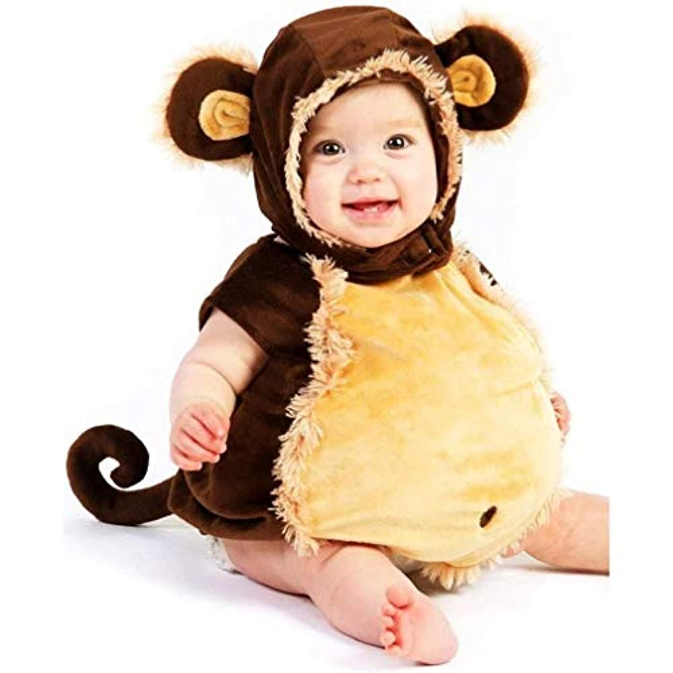 スクラップイディオム受ける【Abz Company】 猿 乳児 幼児 赤ちゃん ハロウィン コスチューム いたずら 好き ふわふわ 着ぐるみ おくるみ パジャマ サイズ 18 Months / 2T