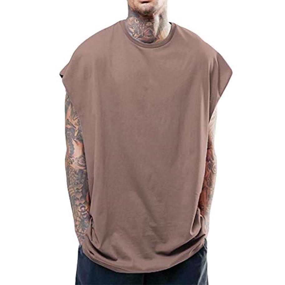 安定したクレーン今後メンズ無地ベスト タンクトップ メンズ tシャツ夏 トップス カットソー ノースリーブ ゆったり ビッグシルエット 吸汗速乾 無地 お出かけ 男性 背心 簡単 ジム 運動 (S-XXL)
