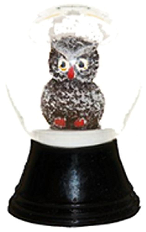 Alexander Taronインポータpr1148 Perzy Decorative Snowglobe with Miniフクロウ、1.5