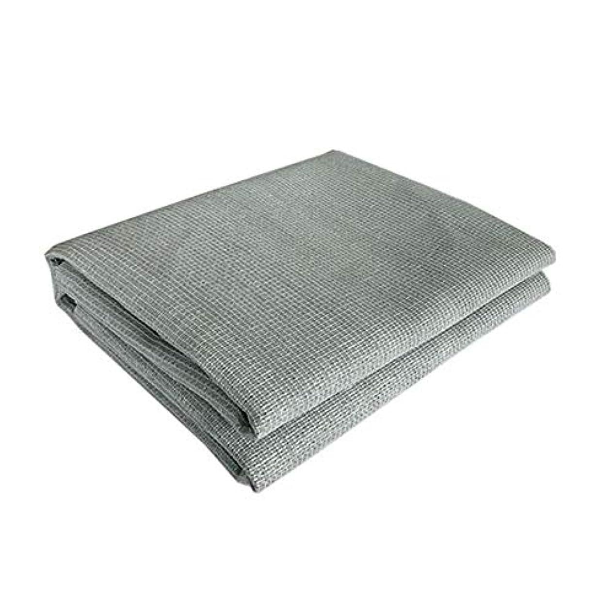 鼻日食タヒチXUERUI シェルター シェーディングネット パティオガーデン用ライトグレースクエアの2X2MサンシェイドセイルUVブロックファブリックキャノピー (Color : Gray, Size : 2X2M)