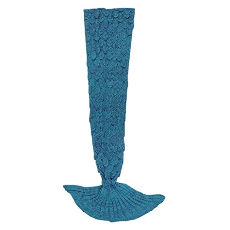 [Kpblis]Kpblis All Season Soft Mermaid Blankets for Children Audlt as Christmas or Birthday Gift 5628(140×70cm?Blue [並行輸入品]