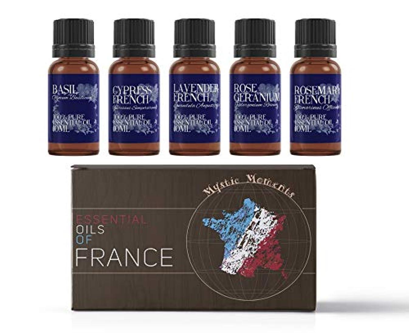 楕円形遠いクランプMystic Moments | Gift Starter Pack of 5 x 10ml - Essential Oils Of France