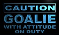 LED看板 ネオンプレート サイン 電飾・店舗看板・標識・サイン カフェ バー ADV PRO m572-b Caution Goalie Neon Light Sign