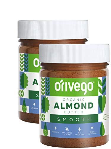【北欧産、オーガニック、ビーガン】Orivego(オリヴェゴ)〜希少な高品質ピーナッツ、アーモンド、へーゼルナッツバター 〜 Orivegoは砂糖、保存料、パームオイル無添加で100%ナチュラルな原材料を使用 (タンパク質、食物繊維、善玉脂肪が豊富)190