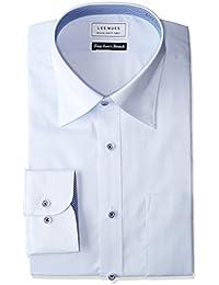 [アオキ] 形態安定シャツ 長袖スリムシルエット 立体縫製 綿混 選べるバリエーション【ボタンダウン/ワイドカラー】 メンズ