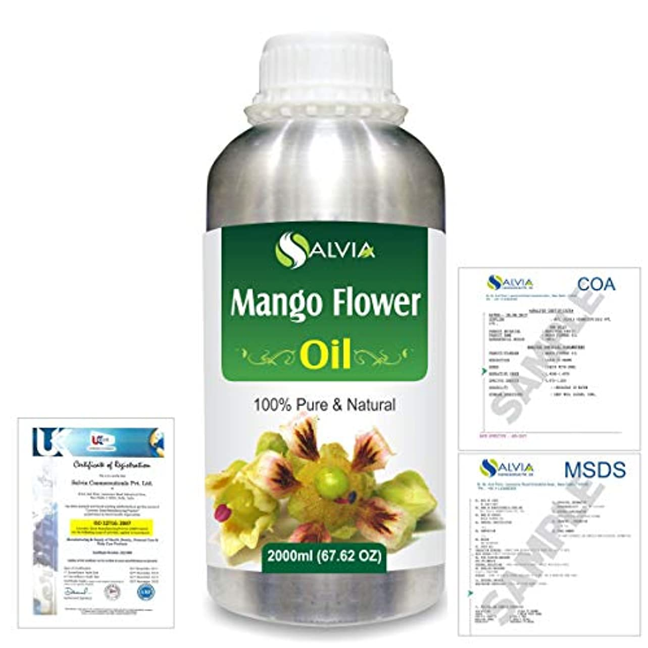 ひも食器棚投げ捨てるMango Flowers (Mangifera indica) 100% Natural Pure Essential Oil 2000ml/67 fl.oz.