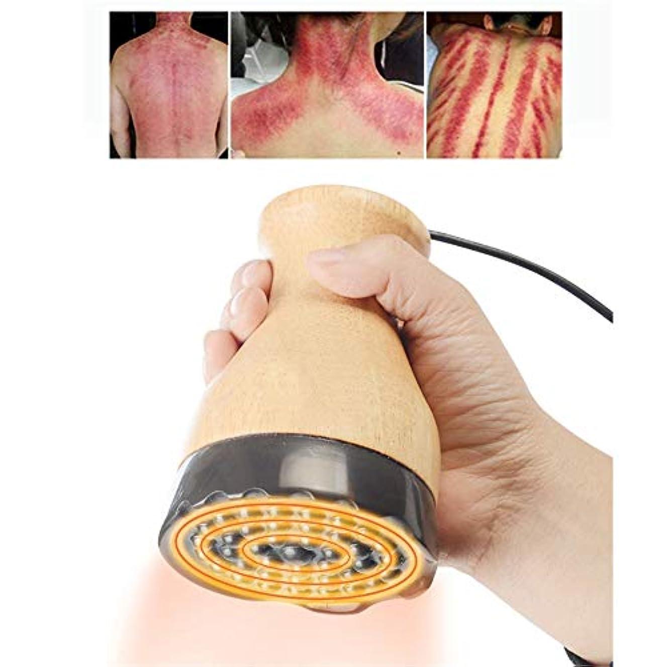 うなずく柔らかい広範囲ボディ解毒、痛みや減量脂肪バーナーのための1つのホットスクレイピングカッピングセラピー電気マッサージ器内の負圧マッサージ、3