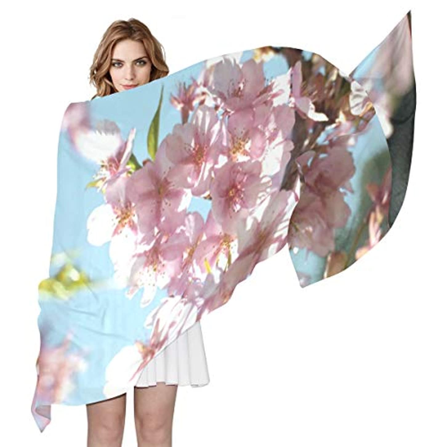 パドル深さ安定ユキオ(UKIO) 肌触り抜群 薄手 シフォンシルク ロング スカーフ ストール バンダナ おしゃれ かわいい 桜彼女 子供 贈り物 ギフト 母の日 誕生日 プレゼント レディース バレンタインデー かわいい