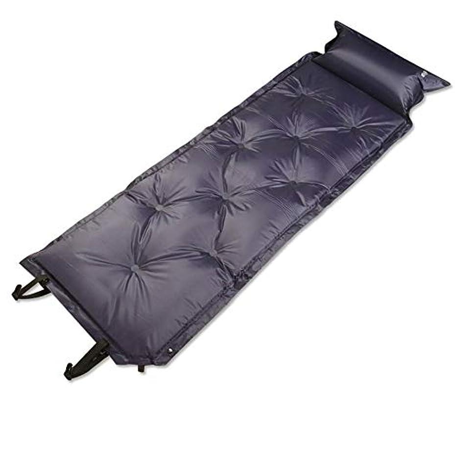 ええ黒くする鉱石屋外の自動湿気防止の膨脹可能なベッド/軽量の携帯用膨脹可能なベッドを折ること容易な膨脹可能なベッド/快適な通気性ステッチ(サイズ:184 * 54 * 3 cm)