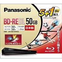 パナソニック(家電) 録画用2倍速ブルーレイディスク片面1層50GB(書換型) 5枚+1枚パック ds-2024501