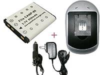 CASIO NP-80 対応 EX-Z2 EX-Z270 対応 (互換バッテリー+ACアダプタタイプ充電器)