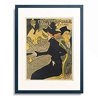 アンリ・ド・トゥールーズ=ロートレック Henri Marie Raymond de Toulouse-Lautrec-Monfa 「Divan Japonais, ca. 1892–1893.」 額装アート作品