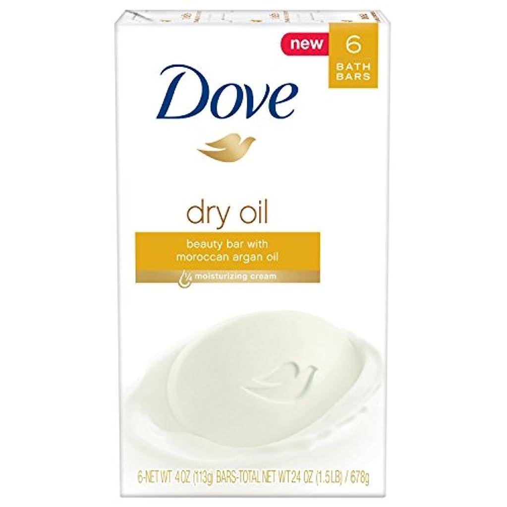 湿度教える引き算Dove ビューティーバー、ドライオイル、4オンス、6バー