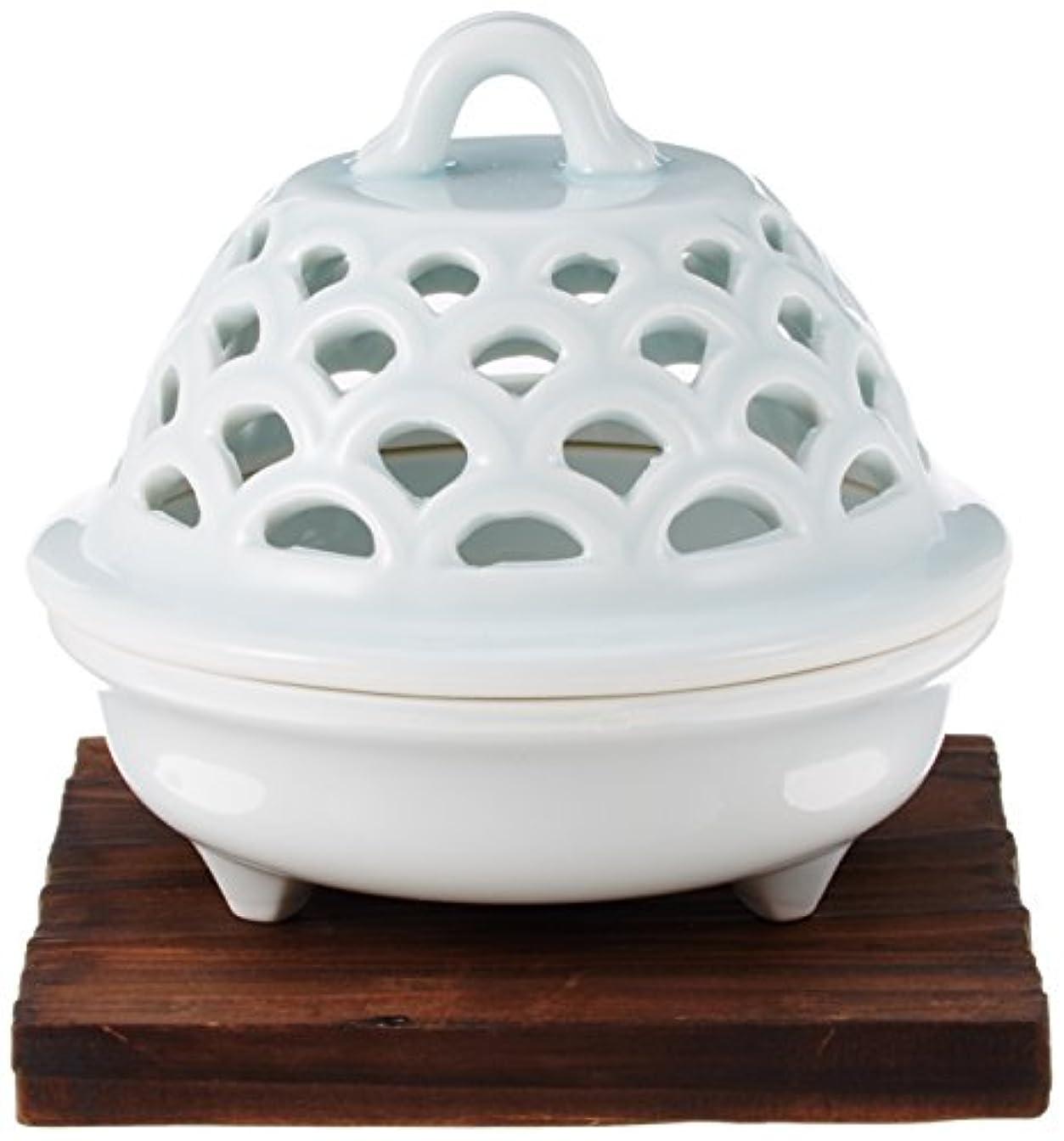 舗装する蒸留感性香炉 青磁 透し彫り 香炉 [R9.5xH9cm] プレゼント ギフト 和食器 かわいい インテリア