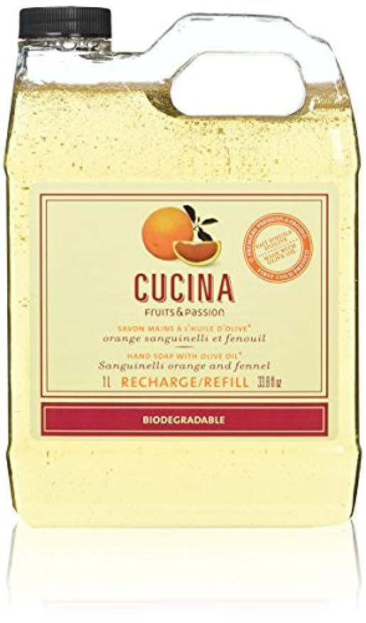 蒸発する言い換えると回復Fruits & Passion Cucina Hand Wash Soap Refill Sanguinelli Orange and Fennel by Fruits & Passion [並行輸入品]