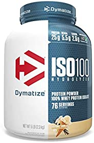 Dymatize ISO100 - 100% Hydrolyzed Whey Protein Isolate - Gourmet Vanilla, 2.3kg/5lbs
