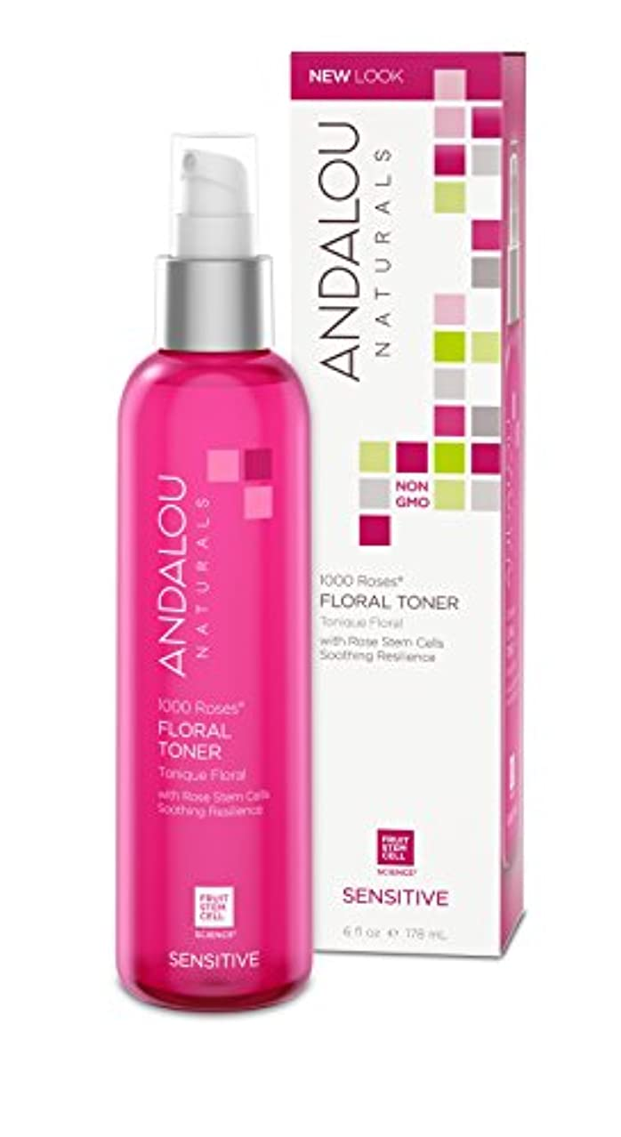 促進する金銭的な気分が悪いオーガニック ボタニカル 化粧水 トナー ナチュラル フルーツ幹細胞 「 1000 Roses® フローラルトナー 」 ANDALOU naturals アンダルー ナチュラルズ