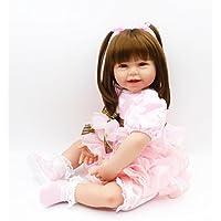 ピンキー美しいChunky 24インチ60 cmソフト人形Reborn Baby Girl Realistic Looking Real Life Likeベビー人形幼児用ビニールシリコン赤ちゃんクリスマスギフト