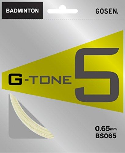 ゴーセン(GOSEN) G-TONE 5(0.65mm) 10m ナチュラル BS065 ナチュラル 65