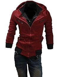 Next house メンズ ファッション ジャケット 立て 襟 フード 付き ジップ アップ 長 袖 アウター パーカー 大きい サイズ あり