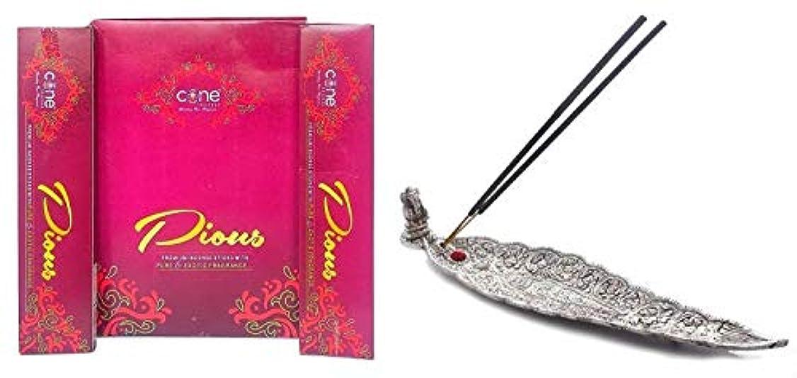 庭園粘り強い立方体Pious Incense Sticks with Pure & Exotic Fragrance (Pack of 12= 144 Sticks)