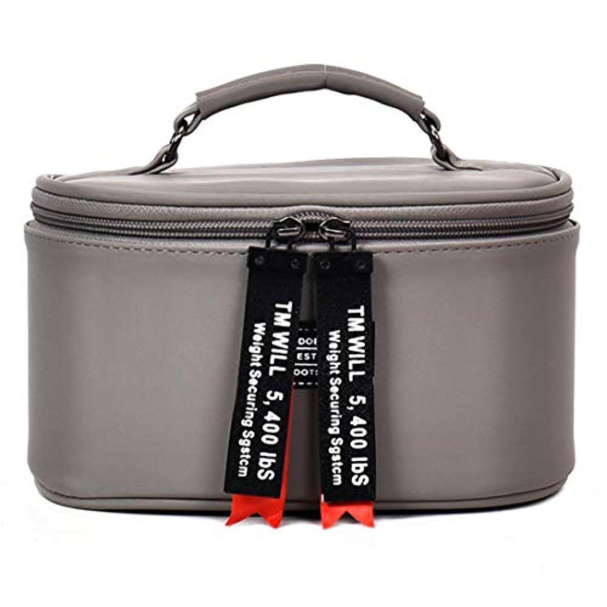スナップ章目に見える[テンカ] メイクボックス コスメボックス 大容量 おしゃれ かわいい 化粧品収納ボックス ブランド 人気 プロ 化粧ボックス 小物入れ 化粧道具 機能的 メイクポーチ 旅行 コスメケース 女性 グレー